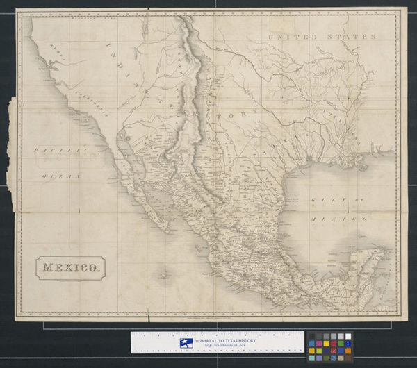 1828 Map of Mexico