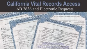 Copies of California Vital Records