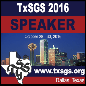 2016 Texas Family History Conference Speaker Badge