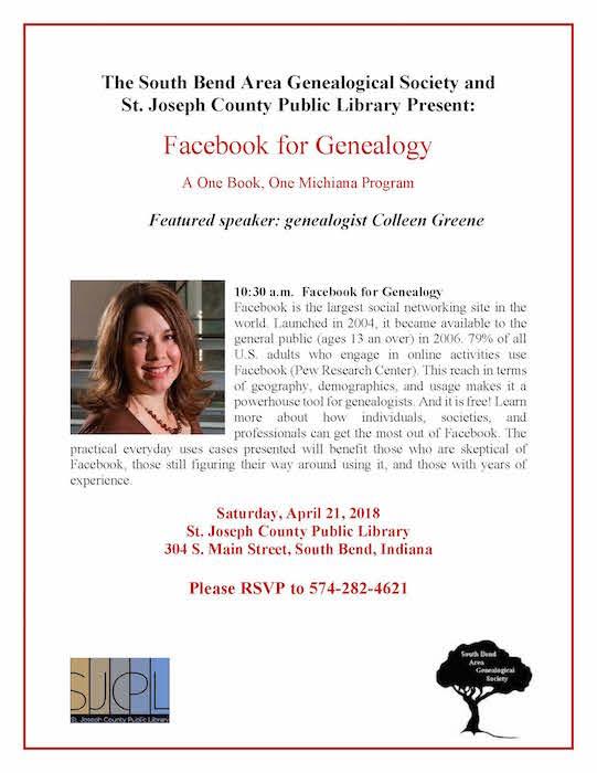 2018 SJCPL Facebook for Genealogy Lecture