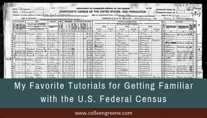 U.S. federal population censuses are my favorite type of record for doing U.S. genealogy and history research. These FREE tutorials provide extensive details about each federal population census.