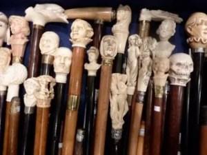 Antique walking sticks, Le Louvre des Antiquaires