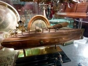 Original model of CSS Hunley 1864. First Confederate submarine during the Civil War