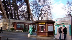 Kiosk to sign in for your 58 Tour Eiffel reservation