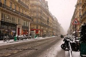 Paris snow December 9, 2010, rue des Petits Champs