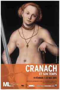 Poster for Lucas Cranach exhibit Musee du Luxembourg