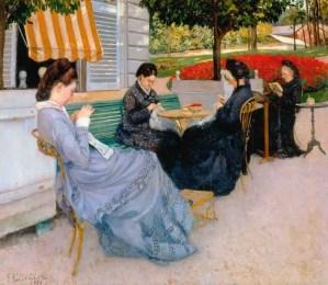 Portraits à la campagne (1876), Gustave Caillebotte jacquemart andre musée
