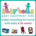 Babytems Paris baby gear for rent during your holiday