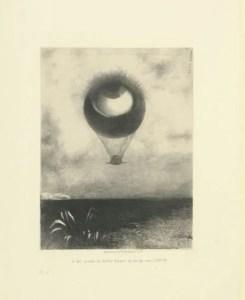 l'Oeil, comme un ballon bizarre se dirige vers L'INFINI, 1882, BNF