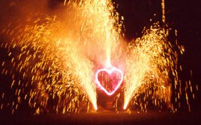 fireworks that say i love you