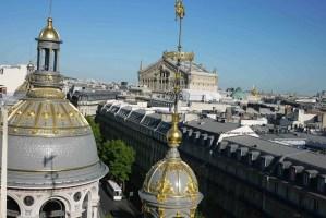 View from rooftop of Printemps restaurant Paris toward Opera/Palais Garnier