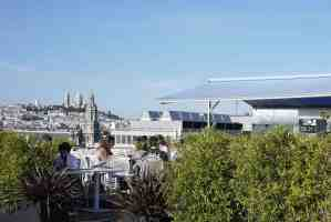 View from rooftop of Printemps restaurant toward Sacre Coeur