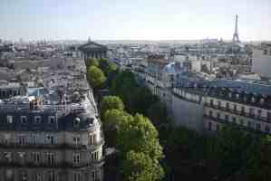View from rooftop of Printemps restaurant toward Madeleine