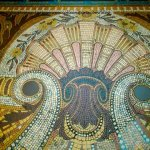 Mosaic floor in the Societe Generale - Boulevard Haussmann