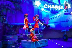 Printemps Christmas 2011 Chanel flight crew in Paris