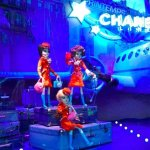 Printemps Christmas 2011 Chanel flight crew in Paris