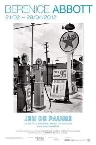 Poster for Berenice Abbott exhibit, Jeu de Paume 2012