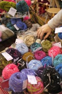 l'Aiguille en Fete trade show, February 2012, yarn from around the world