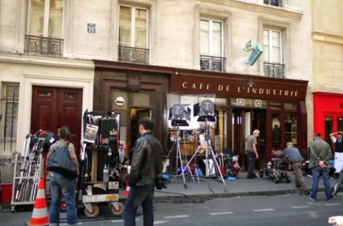 A popular movie location at Cafés de l'Indusrie