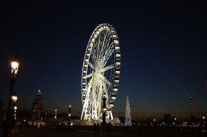Concorde Ferris Wheel, Christmas Tree, Paris 2012, Cash only for the Ferris Wheel