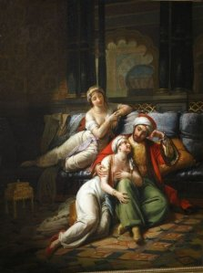 ©D. Sohier_Sheherazade accompanied by her sister, tells the Sultan Shariar an adventure from Thousand One Nights, Paul-Emile Destouches (Salon de 1824)