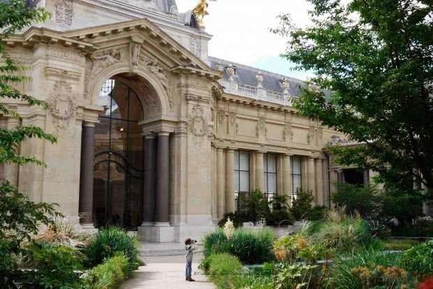 Interior Courtyard of Petit Palais, Paris, France, dining on the terrace