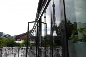 Musée Quai Branly Café Branly with Eiffel Tower View
