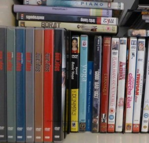 Image of some DVDs on our shelf