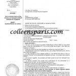 The require statement typed at the prefecture de police
