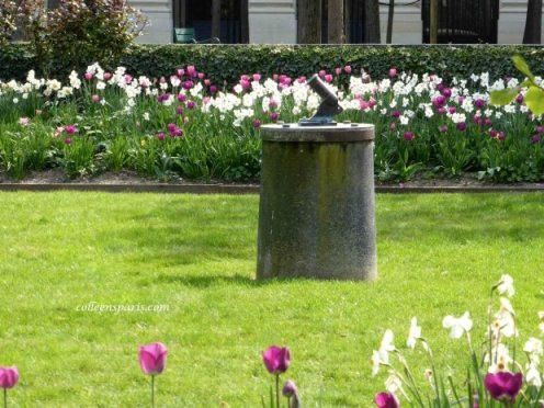 Palais Royal Little Canon & Tulips in the sunshine