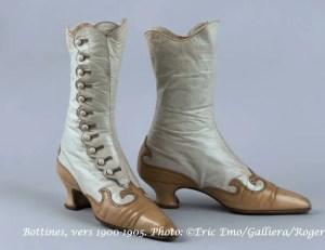 Bottines, vers 1900-1905. Photo: ©Eric Emo/Galliera/Roger-Viollet