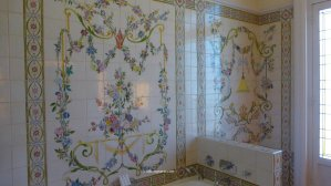 La Morinerie painted tiles State Suite bedroom Hotel Raphael Paris