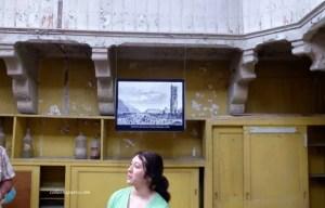 Tatiana relating history and anecdotes Tour Saint Jacques Châtelet Paris