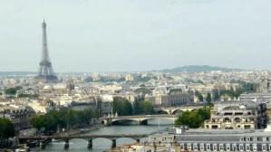 View of Seine and bridges from Tour Saint-Jacques