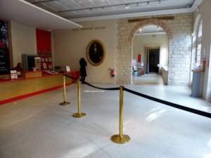"New admissions desk in ""old"" archeology building at Carnavalet Museum"