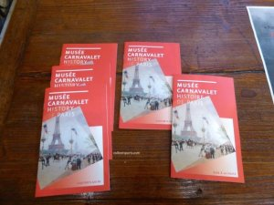 Brochures with the history of Musée Carnavalet Paris