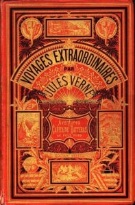 Hetzel book cover for Jules Verne novel Aventures Capitaine Hatteras au Pole Nord
