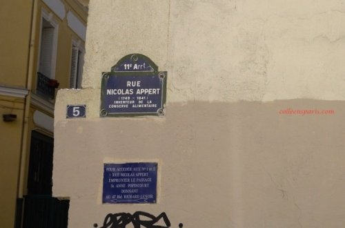 Nicolas Appert street sign Charlie Hebdo offices