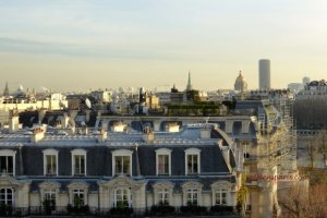 Maison Blanche terrace view Invalides and Montparnasse tower in background