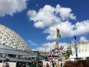 Palais des sports dome, Tour Triangle from 1923 when the Parc des Expositions (Porte de Versailles) opened
