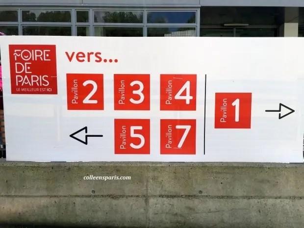 Foire Paris 2015 sign