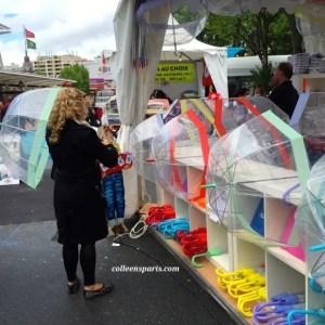 If it rains, it is either Roland Garros or showers at Foire de Paris stand selling umbrellas