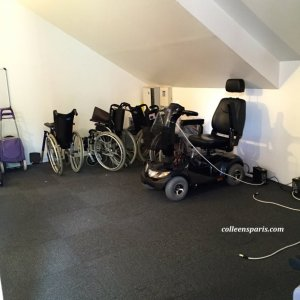 Wheelchairs and scooters and other accessories available for loan