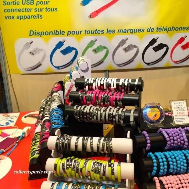 Foire Paris USB bracelet