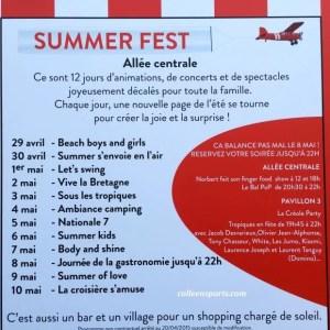 2015 Calendar of events for the Foire de Paris summer fest