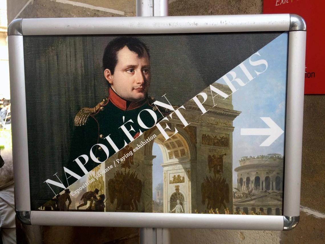 Entrance poster for Napoléon et Paris