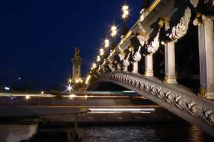 Pont Alexandre III east side - part of Photo walk in Paris at night to photograph movement