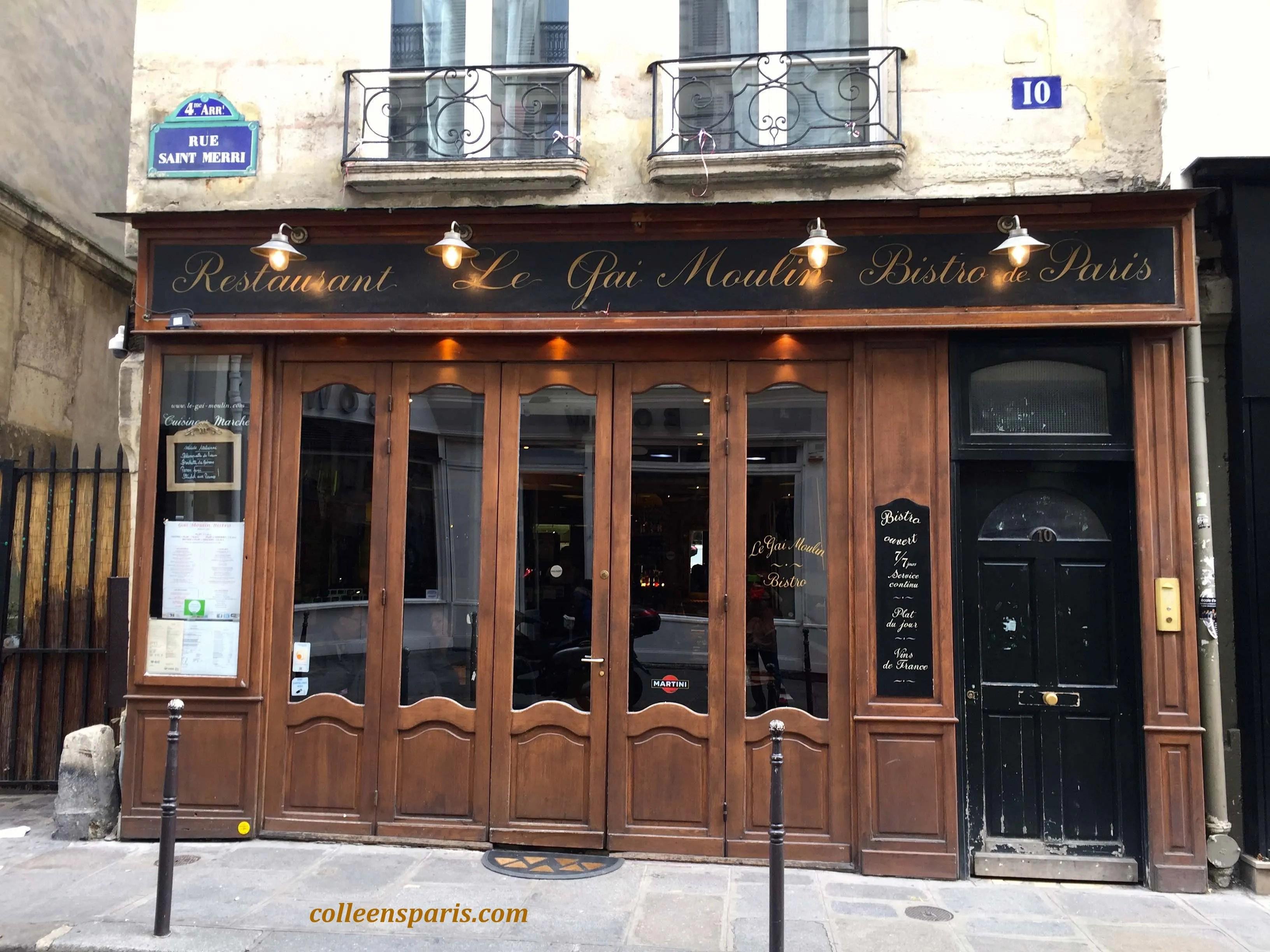 5022 Pierre Cardin Restaurant Gai Moulin