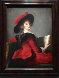 A daring, original pose was the one portrait Madame Le Brun took when she fled France. Portrait of Baronness Henri Charles Emmanuel de Crussol Florensac, née Anne Marie Joséphine Gabrielle Bernard de Boulainvilliers (1785)