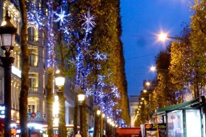 Holiday Champs Elysees Illuminiations for Christmas